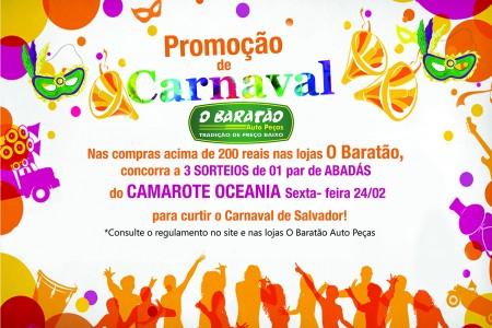 Promoção de Carnaval 2017